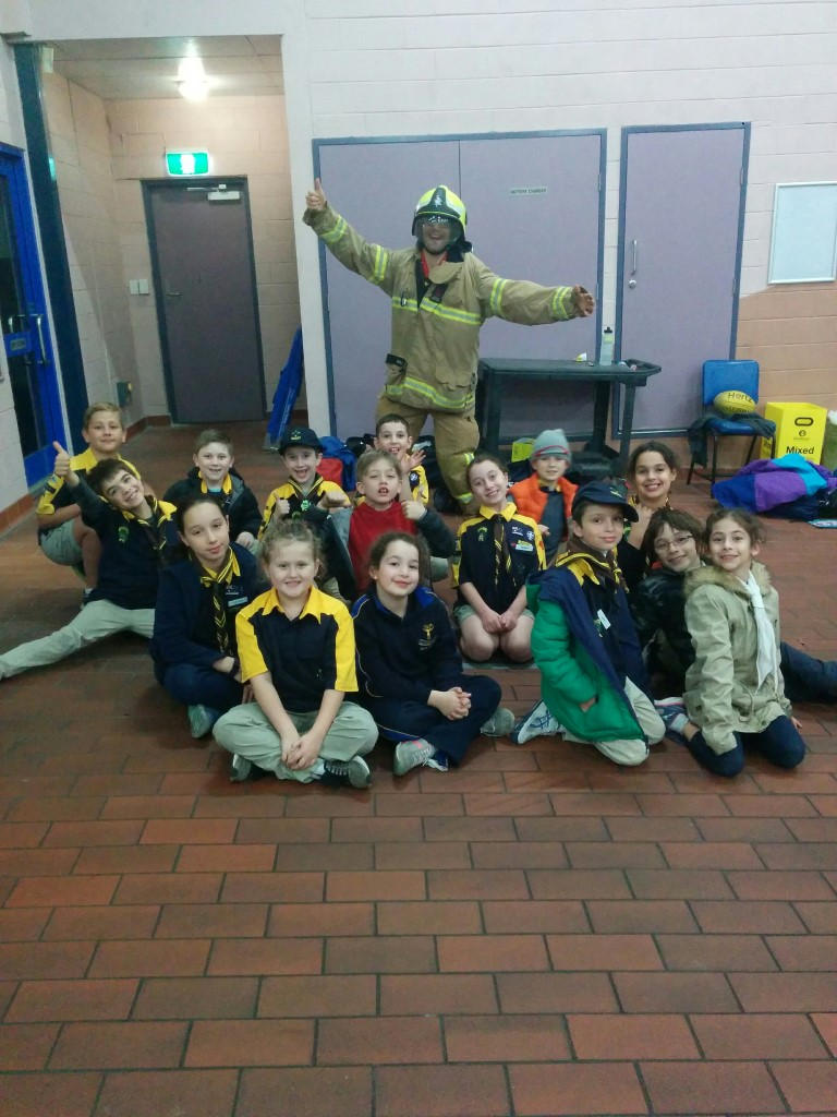 Cubs visit the Windsor Fire Brigade