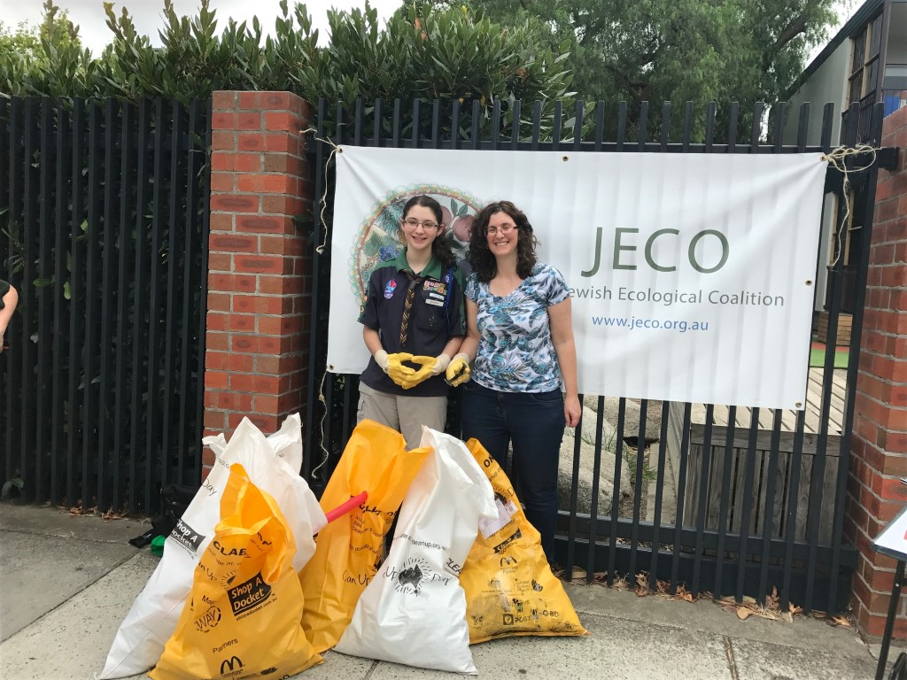 Jess Helps Clean Up Locally