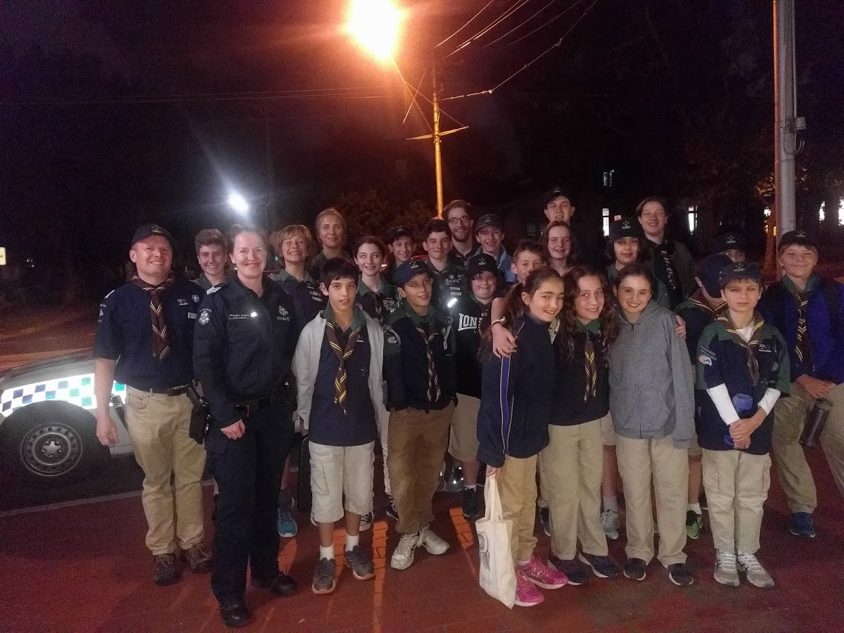 Scouts visit Police