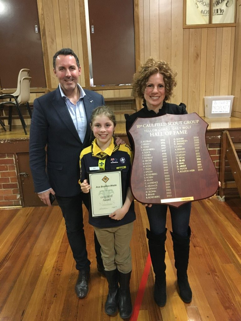 Ava Boulton-Webb is 10th Caulfield's latest Grey Wolf Cub Scout!